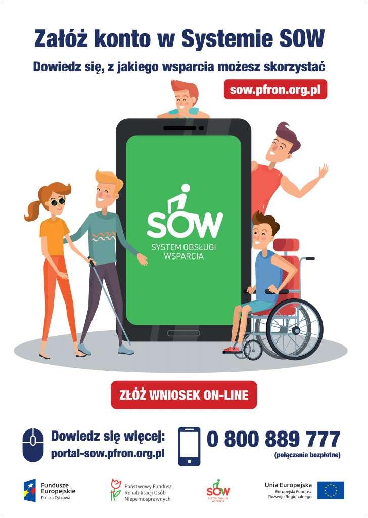 Państwowy Fundusz Rehabilitacji Osób Niepełnosprawnych - plakat