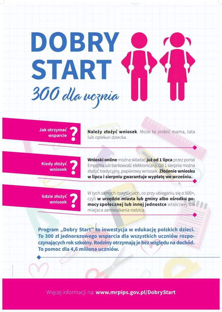 Świadczenie Dobry Start - plakat